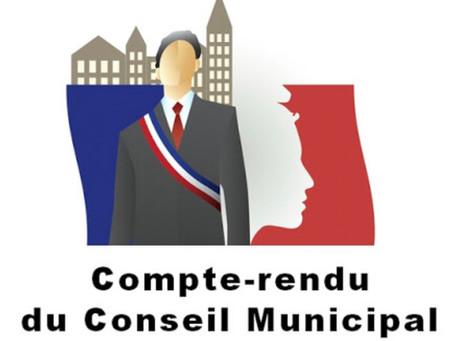 COMPTE-RENDU DU CINQUIÈME CONSEIL MUNICIPAL DE L'ANNÉE Vendredi 28 mai 2021
