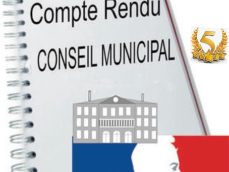 COMPTE RENDU CONSEIL MUNICIPAL 9 AVRIL 2021