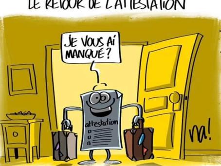 LE RETOUR DE L'ATTESTATION !