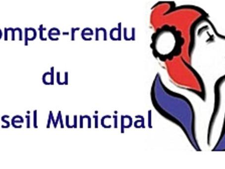 COMPTE RENDU 📍CONSEIL MUNICIPAL DU 12/02/2021.