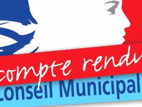 COMPTE RENDU DU CONSEIL MUNICIPAL DU 27/11/2020