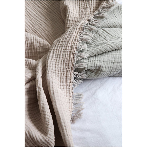 Crinkle Muslin Cotton Bed Cover