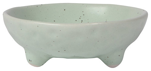 Seafoam Terrain Footed Bowl