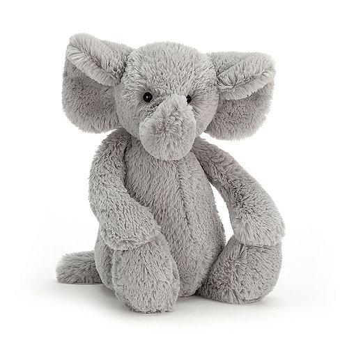 Bashful Silver Elephant - Medium