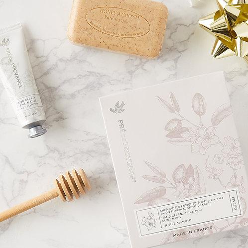 Soap & Hand Cream Gift Set - Honey Almond