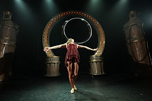 Stage Performance with Hoop Brown Scene.