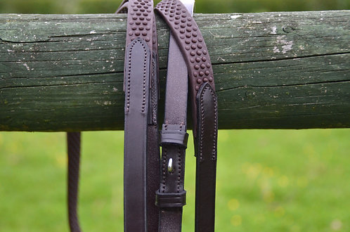 Bio Grip reins - Billet hook or buckle - Free P&P