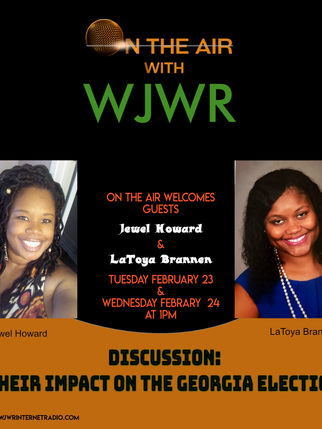 On Air with WJWR jewel howard latoya bra