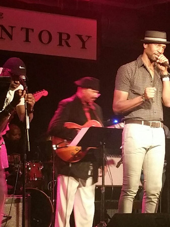 Actor/Singer Leon introducing Johnny Britt concert