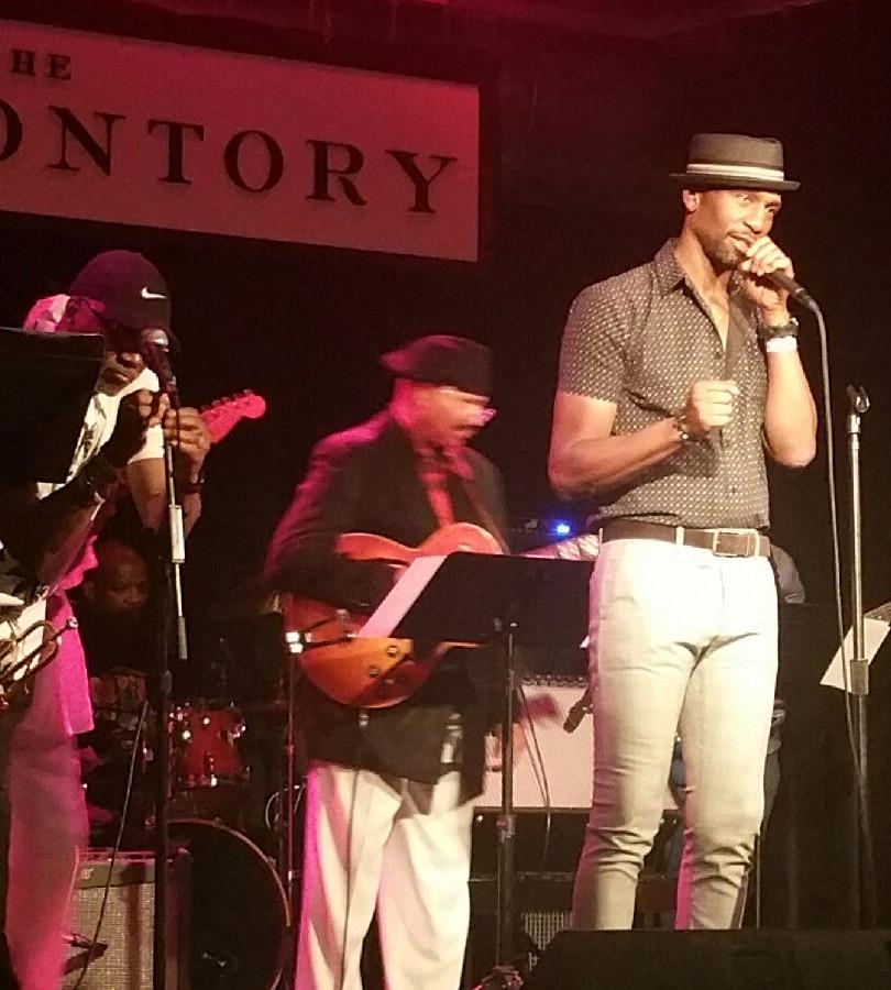 Actor/Singer Leon introducing Johnny Britt concert