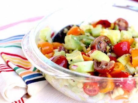 Avocado, Tomato, and Cucumber Salad