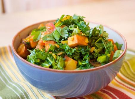 Leafy Greens + Sweet Potatoes | Food for Mental Health