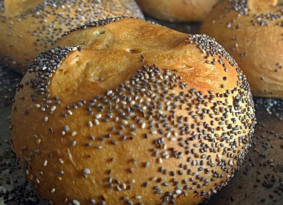 Pão de Gorgonzola para Hambúrguer