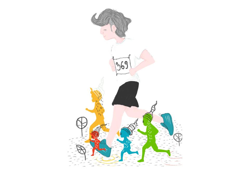 Ogulin Trail Charachter Illustration 2020