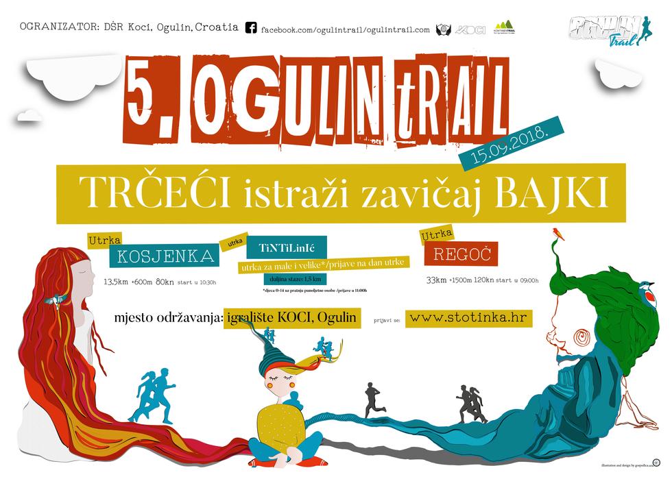 Ogulin Trail Illustration and poster design 2018
