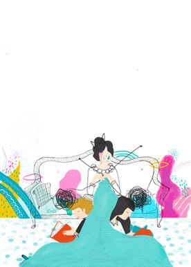 Poster Illustration for Public Library Ogulin, 2020.
