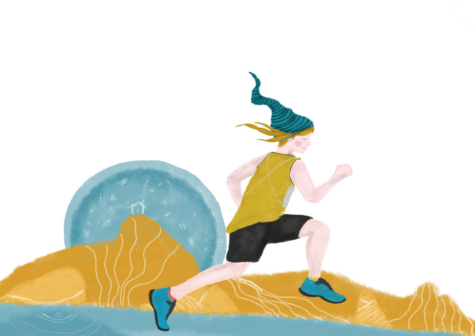 Ogulin Trail Charachter Illustration 2019