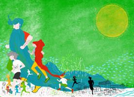 Visual Identity Illustration for Ogulin Trail 2020