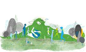 Visual identity Illustartion - Ecological Mountaineering Association, 2020.