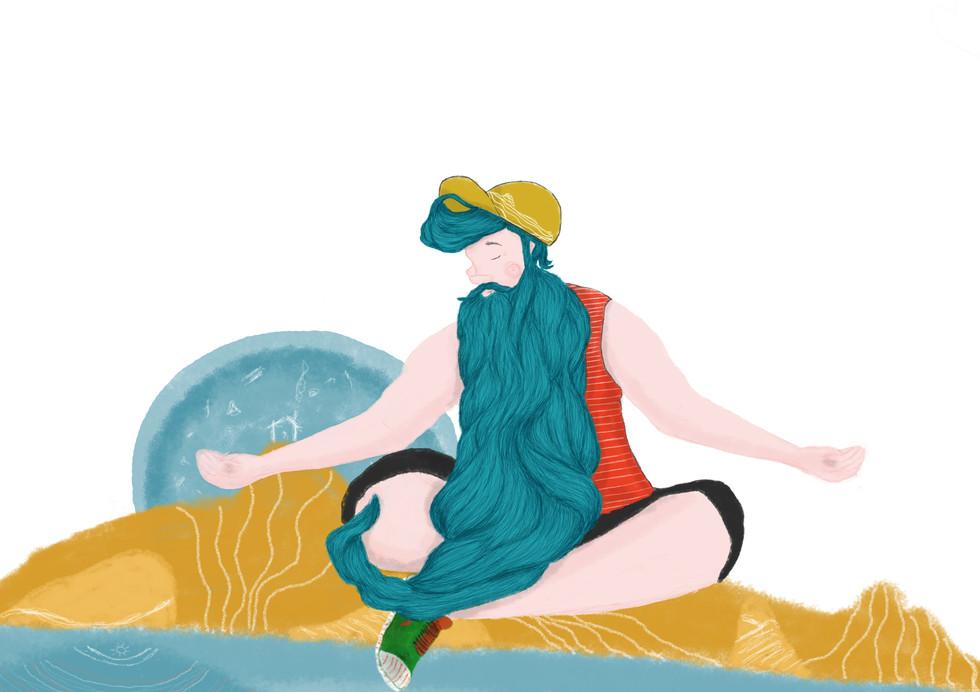 Ogulin Trail Character Illustration 2019