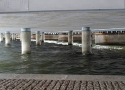 Stockholm, under a bridge