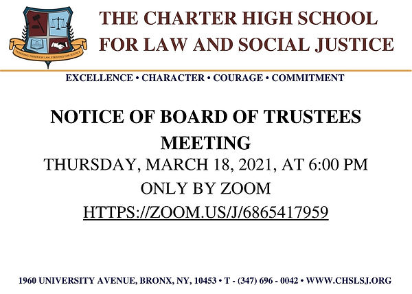 The Charter High School for Law and Soci