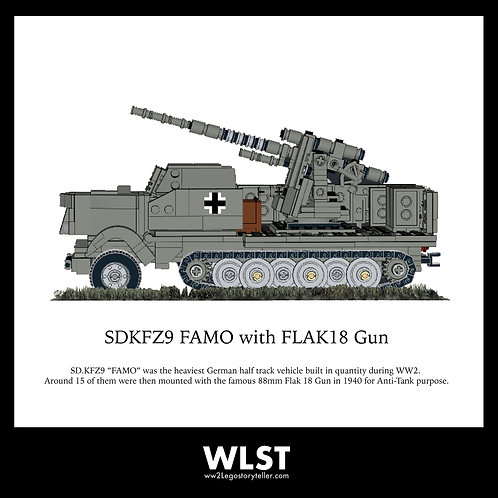 SDKFZ9 FAMO with FLAK18 Gun
