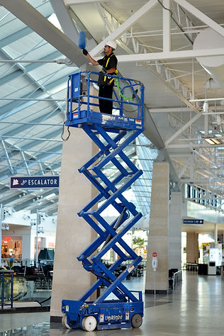 shopping mall, shopping center cleaning, commercial cleaning, pondsco facility services, janitor, floor cleaning, window cleaning, covid-19 disinfection, corona virus sanitation, high dusting, scissor lift