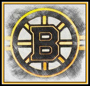 Bruins Rustic Canvas Logo