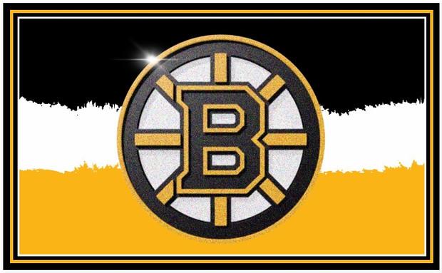 Bruins Logo with Painted Backround