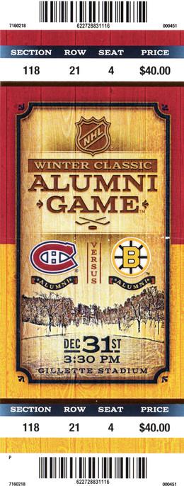 Winter Classic Alumni Game Ticket
