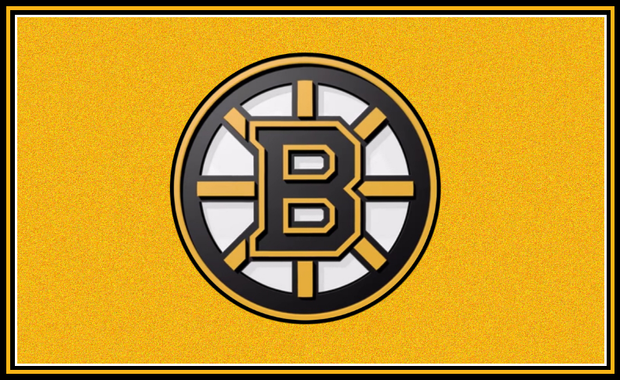 Bruins Logo with Gold Backround