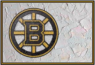 Bruins Mosaic Logo on Plaster
