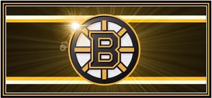 Bruins Logo with Sunburst Backround
