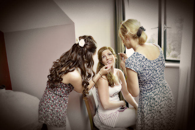 Bride's makeover at Old Thorns
