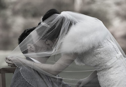 A Cheeky Kiss Under the Veil