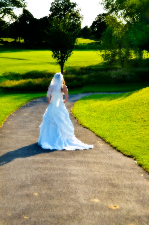 Bride like a painting