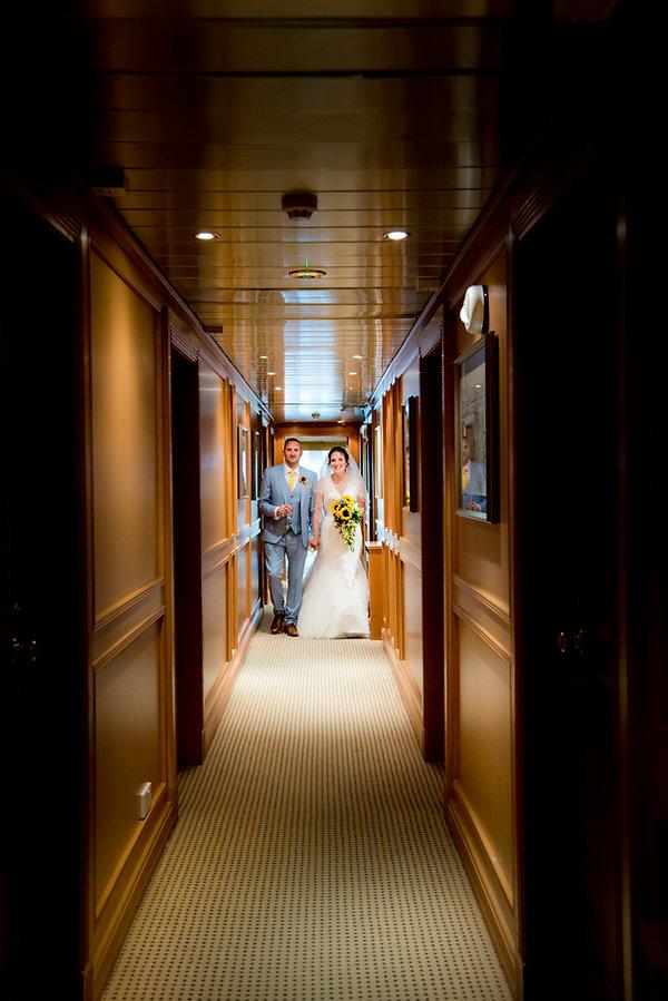 Happy Couple in the Hotel corridor