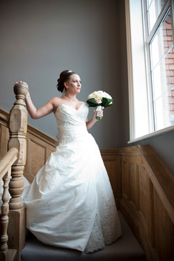 Bride on stairs 1 © An Image For You