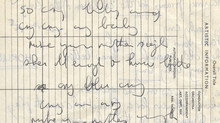 """New Acquisition: """"Cry Baby Cry"""" Handwritten Lyric"""