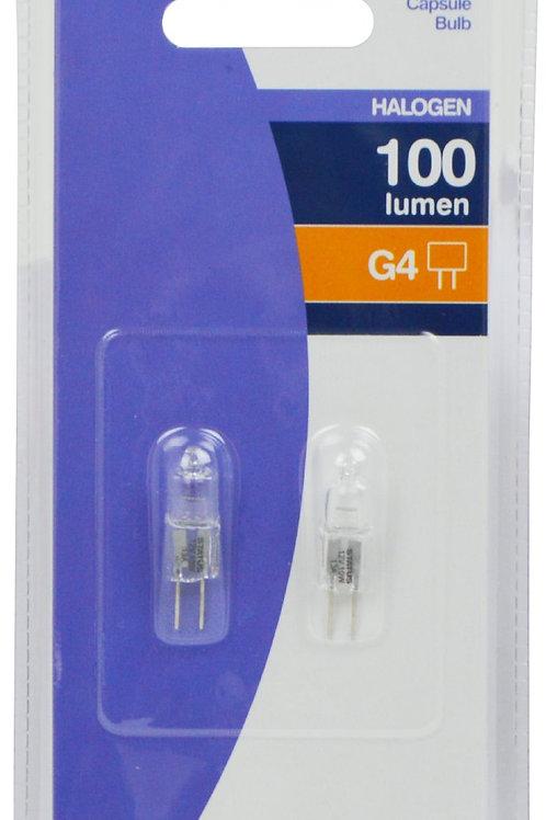 10w - G4 - 12v - 4000 hrs - B rated - Status - Halogen Capsule - 2 pk
