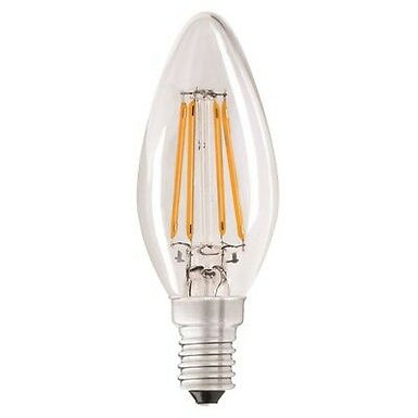 4w = 40w =  470 lumens - Status - Filament LED - Candle - SES - Clear