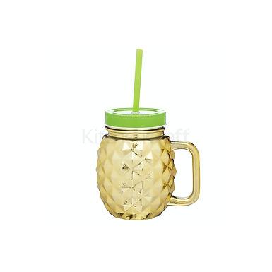 BC PINEAPPLE DRINKS JAR GOLD