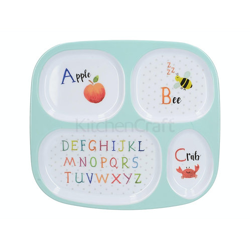 CT ALPHABET SECTIONED KIDS PLATE