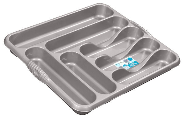 Casa Large Cutlery Tray Silver