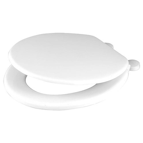 Moulded Wooden Toilet Seat White (Paramount)