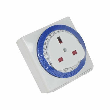 "24 Hour - Timer Switch - ""Square"" - White - Status - 1 pk"