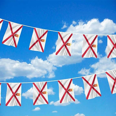 Jersey Flag Bunting 6m