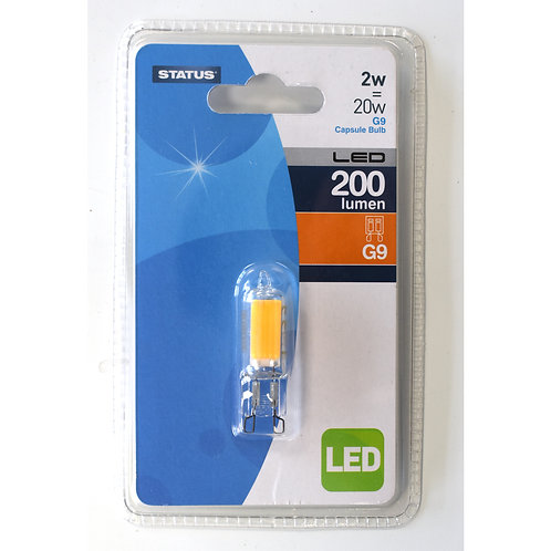 2w = 20w = 200 lumens - Status - LED - G9 - 1 pk