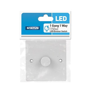 150w - 1 way - Dimmer Switch - LED - White - Status - 1 pk
